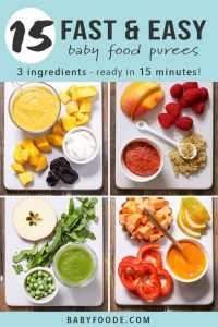 15 Fast Baby Food Recipes (made in under 15 minutes!) - Baby Foode