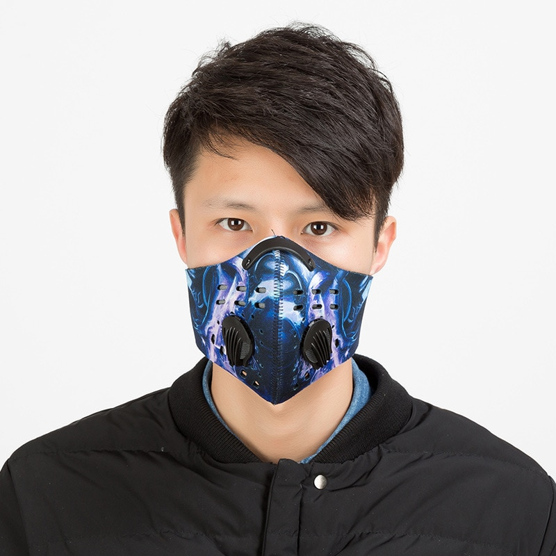 2018 New Arrival Outdoor Sport Mask Bicycle Bike Cycling Face Masks Activated Carbon Anti Dust