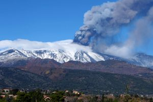 Mount Etna erupts, showers volcanic ash on towns