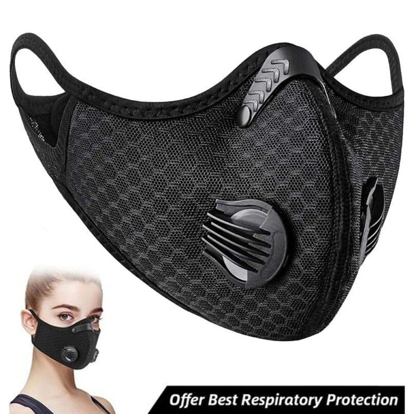 Face Mask Activated Carbon Valve PM2.5 Windproof Dust-proof Breathable Sport Mask Anti-Pollution