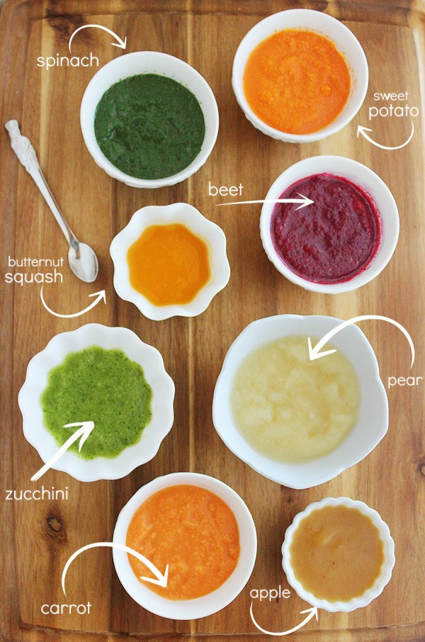 8 Easy Homemade Baby Purées: First Foods – The Comfort of Cooking