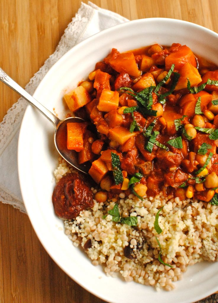 Tunisian Chickpea and Vegetable Tagine - food to glow