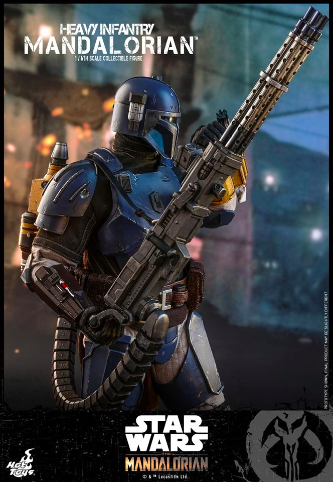 Cool Stuff: Hot Toys Heavy Infantry Mandalorian Figure Takes to the Skies \/Film